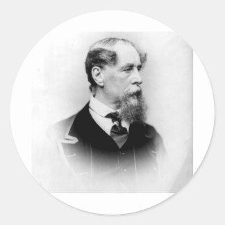 Charles Dickens Pegatinas Redondas