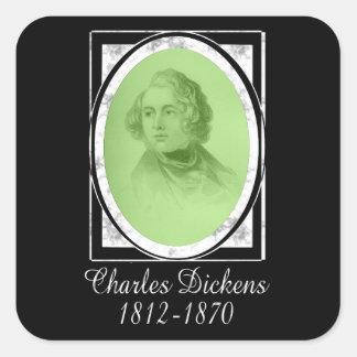 Charles Dickens Calcomanía Cuadradase