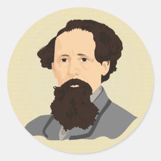 Charles Dickens Pegatina Redonda