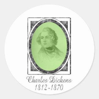 Charles Dickens Etiqueta Redonda