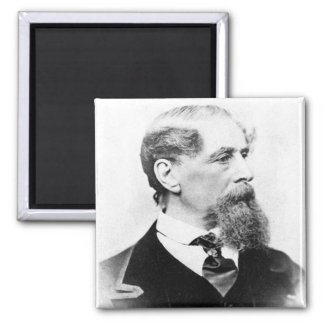 Charles Dickens Photo 2 Inch Square Magnet
