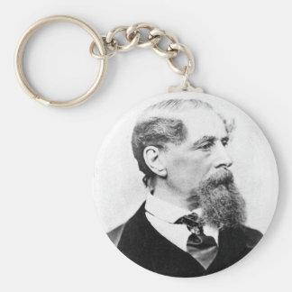 Charles Dickens Photo Basic Round Button Keychain
