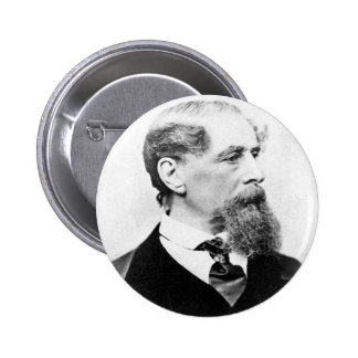 Charles Dickens Photo Pinback Button