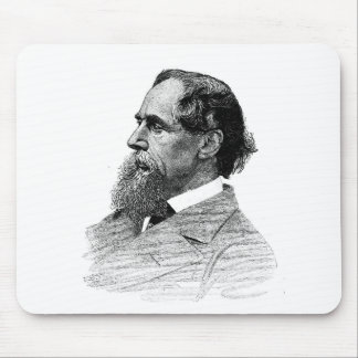 Charles Dickens Profile Mouse Pad
