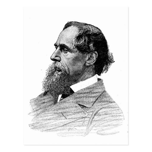 Charles Dickens Profile Post Cards