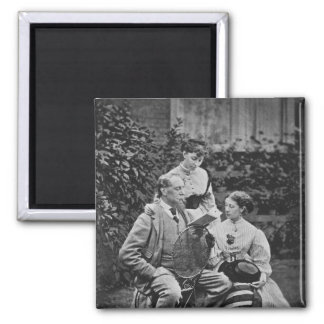 Charles Dickens with two of his daughters Magnet