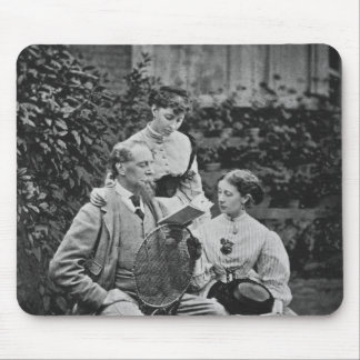 Charles Dickens with two of his daughters Mouse Pad