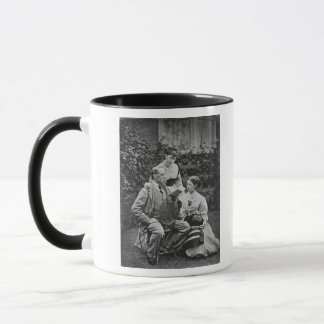 Charles Dickens with two of his daughters Mug