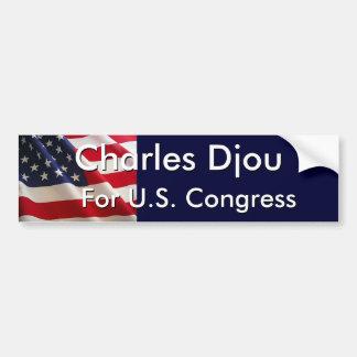 Charles Djou, para el congreso de los E.E.U.U. Pegatina Para Auto