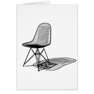 charles eames wire chair greeting card