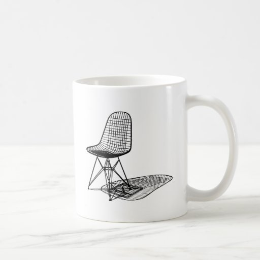 charles eames wire chair coffee mugs