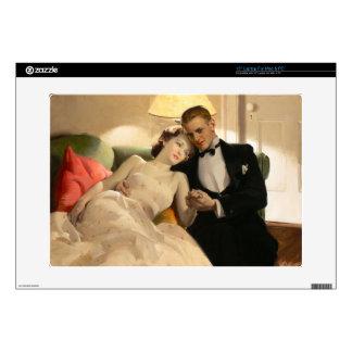 "Charles Edward Chambers: Romantic Couple 15"" Laptop Skin"