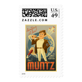 Charles F. Muntz - the Adventure is out there! Stamp