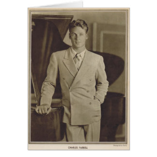 Charles Farrell  movie star portrait Card