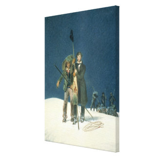 Charles Fellows with William Hawes, Plants a Baton Stretched Canvas Print