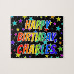 "[ Thumbnail: ""Charles"" First Name, Fun ""Happy Birthday"" Jigsaw Puzzle ]"
