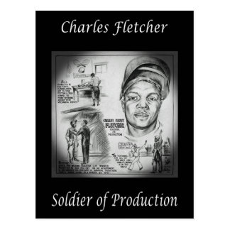Charles Fletcher ~ Soldier of Production ~ Welder~ Postcard