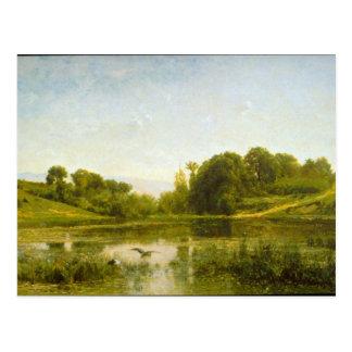 Charles Francois Daubigny - piscina en Gylieu Postales