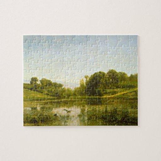 Charles Francois Daubigny - piscina en Gylieu Puzzles Con Fotos