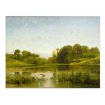 Charles Francois Daubigny - piscina en Gylieu Tarjeta Postal