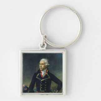 Charles-Francois du Perier Dumouriez Silver-Colored Square Keychain