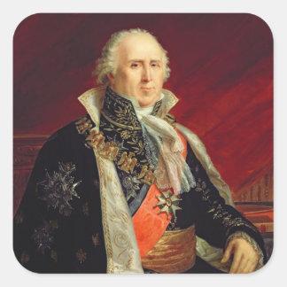 Charles-Francois Lebrun  Duke of Plaisance Square Sticker