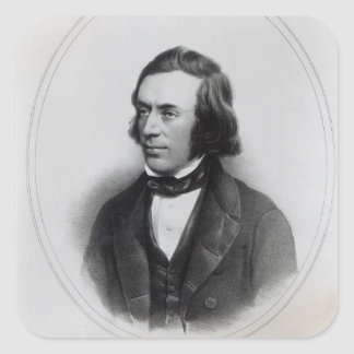 Charles Gavan Duffy, lithographed by H. O'Neill Square Sticker