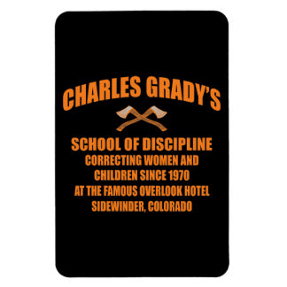Charles Grady's School of Discipline Rectangle Magnets