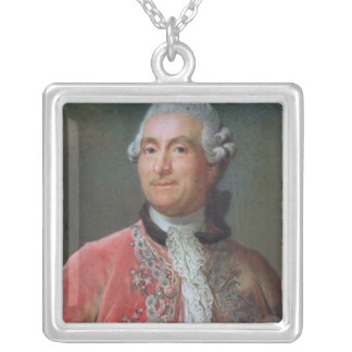 Charles Gravier  Count of Vergennes, 1771-74 Square Pendant Necklace