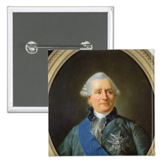 Charles Gravier  Count of Vergennes 2 Inch Square Button