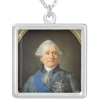 Charles Gravier  Count of Vergennes Square Pendant Necklace
