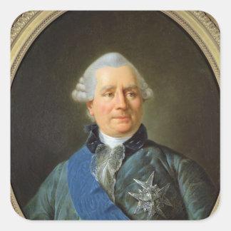 Charles Gravier  Count of Vergennes Square Sticker