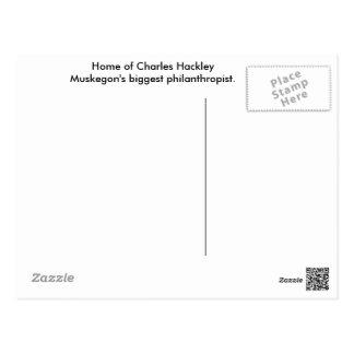 Charles Hackley House Post Card. Postcard