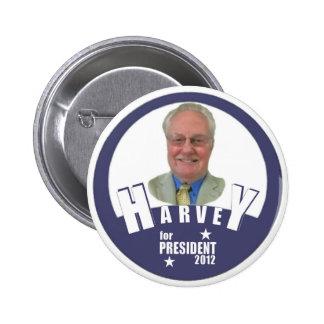 Charles Harvey para el presidente 2012 Pins