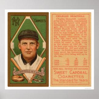 Charles Hemphill Yankees Baseball 1911 Poster
