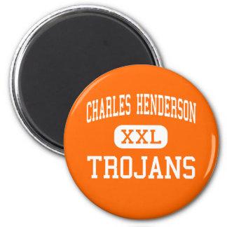 Charles Henderson - Trojan - alto - Troy Alabama Imán Redondo 5 Cm