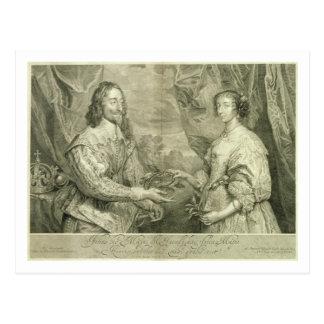 Charles I (1600-49) and Henrietta Maria (1609-69) Postcard