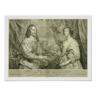Charles I (1600-49) and Henrietta Maria (1609-69) Poster