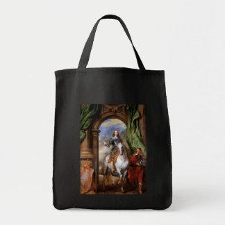 Charles I a caballo por Van Dyck Bolsa Lienzo
