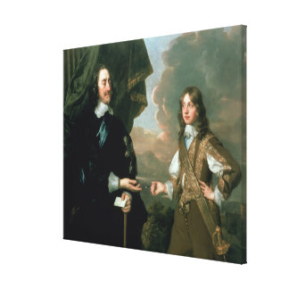 Charles I  and James, Duke of York , c.1647 Stretched Canvas Print
