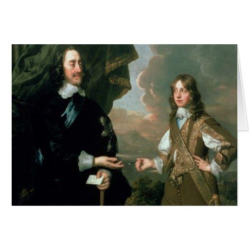 Charles I  and James, Duke of York , c.1647 Card