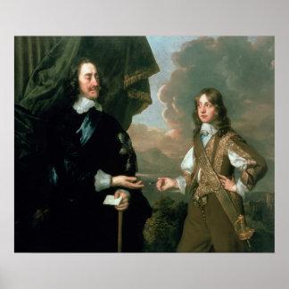 Charles I  and James, Duke of York , c.1647 Poster