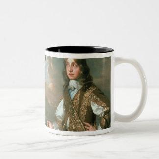 Charles I  and James, Duke of York , c.1647 Two-Tone Coffee Mug