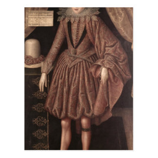Charles I as Prince of Wales, c.1612-13 Postcard