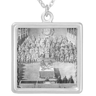 Charles I before the High Court of Justice Silver Plated Necklace