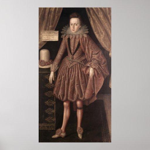 Charles I como Príncipe de Gales, c.1612-13 Impresiones