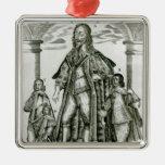 Charles I con sus niños Ornamentos Para Reyes Magos