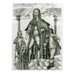Charles I con sus niños Tarjeta Postal