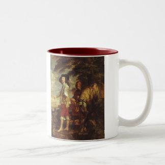 Charles I, King Of England At The Hunt by Van Dyck Mugs