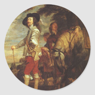 Charles I, King Of England At The Hunt by Van Dyck Sticker